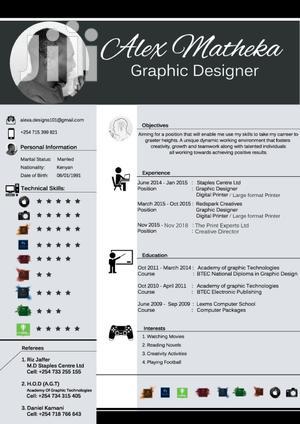 Available Graphic Designer | Advertising & Marketing CVs for sale in Nairobi, Nairobi Central