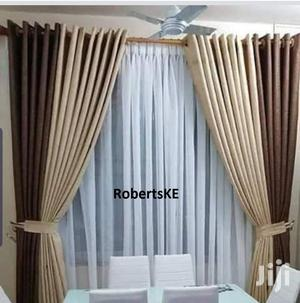 Plain Color Chocolate Brown Linen Curtain | Home Accessories for sale in Nairobi, Nairobi Central