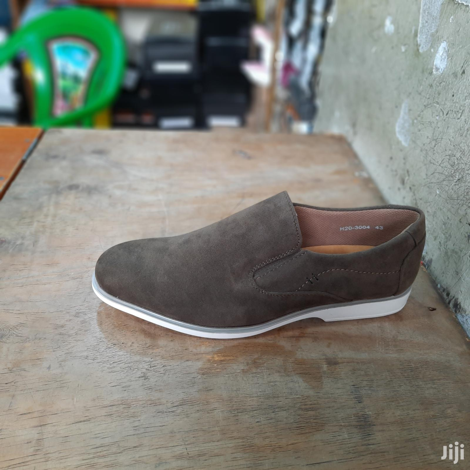 Suede Leather Brown Italy Men Shoes Oxford Casual Classic Sn | Shoes for sale in Nairobi Central, Nairobi, Kenya