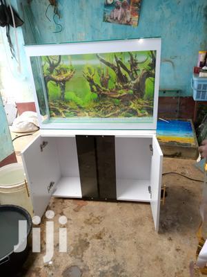 Stronger Glass Wooden-tv-stand FISH AQUARIUM Fish Tank Pond   Fish for sale in Kiambu, Thika