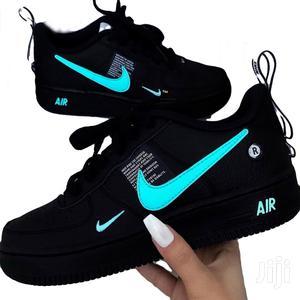 Nike Air Force 1 LV8 Matte Black N Teal Custom   Shoes for sale in Nairobi, Nairobi Central
