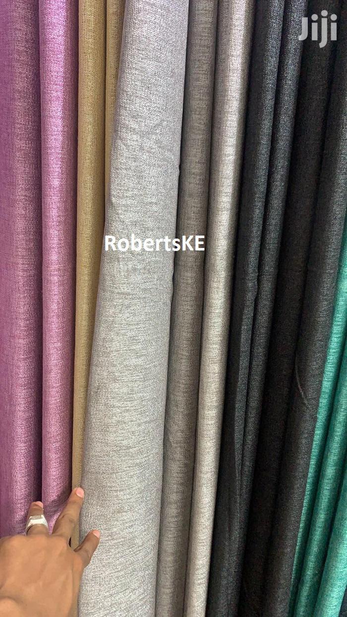 Linen Plain Color Curtain