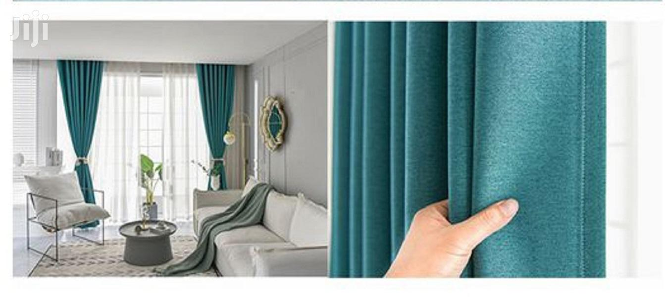 Linen Plain Color Curtains Curtain