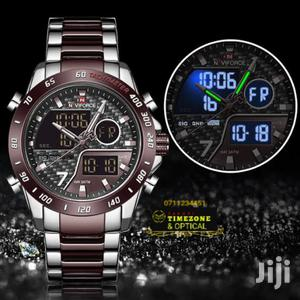 Naviforce Dual Tone Coffee Brown and Silver Watch for Men | Watches for sale in Mombasa, Mvita