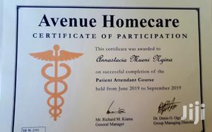 Patient Attendant   Healthcare & Nursing CVs for sale in Nairobi, Parklands/Highridge