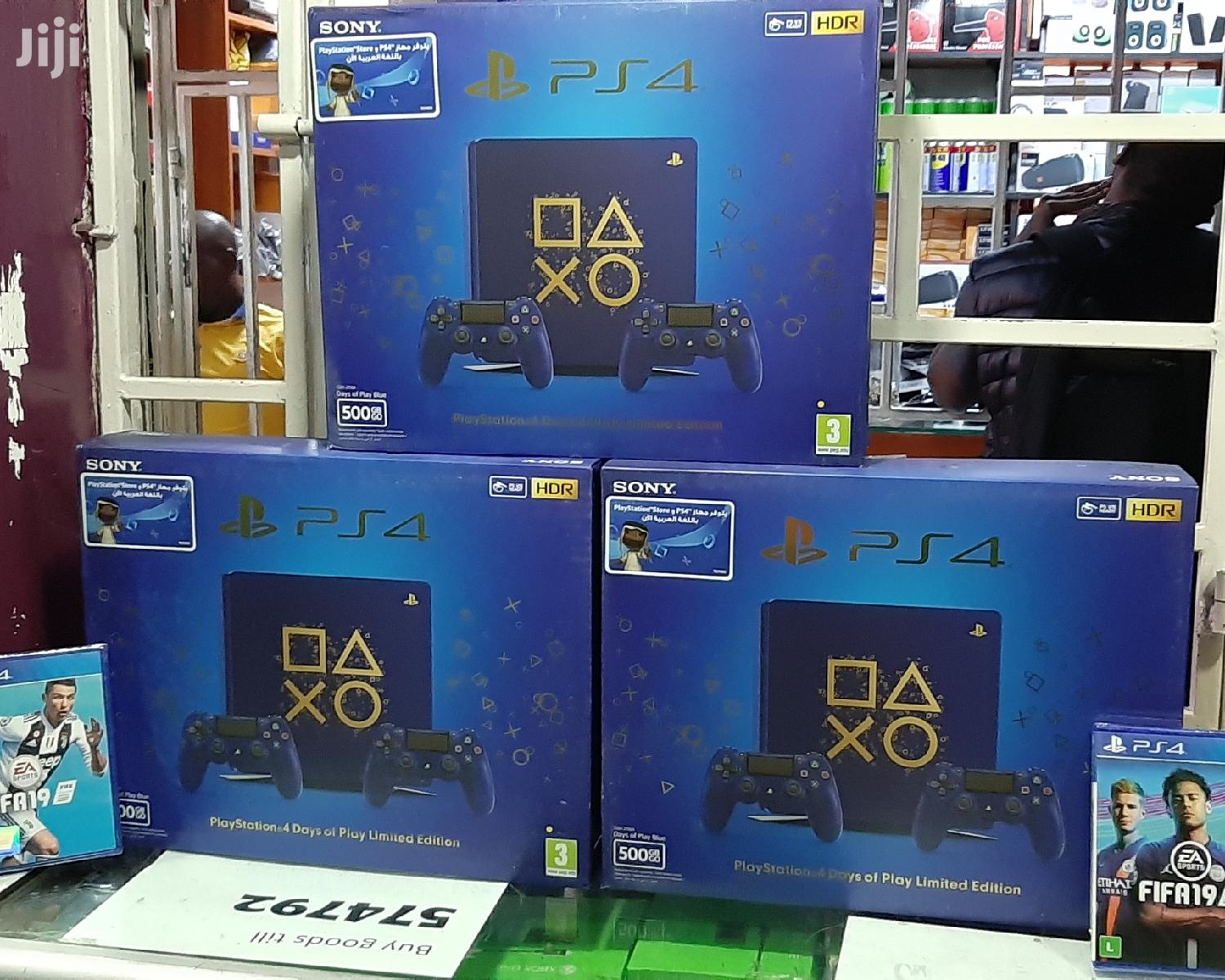 Ps4 Slim 500GB Days of Play Limited Edition With Two Controllers
