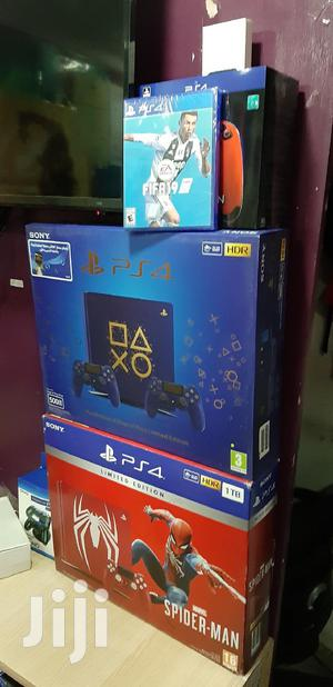 Blue Ps4 Slim 500gb With Two Pads Days Of Play Limited Edition   Video Game Consoles for sale in Nairobi, Nairobi Central