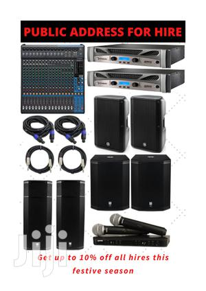 Public Address System For Hire | DJ & Entertainment Services for sale in Nairobi, Nairobi Central