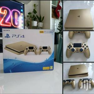 Ps4 Slim 500GB Gold With Two Controllers | Video Game Consoles for sale in Nairobi, Nairobi Central