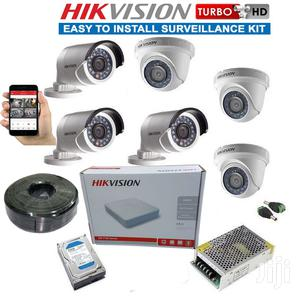 6 Hikvision Turbo HD CCTV Complete Installation System Kit   Security & Surveillance for sale in Nairobi, Nairobi Central