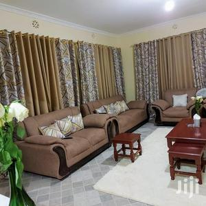 Fancy Brown Printed and Plain Curtains | Home Accessories for sale in Nairobi, Nairobi Central