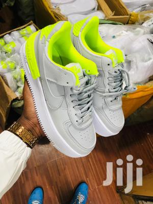 Stylish Nike Airforce 1 Sneakers (Gray and Green Combo)   Shoes for sale in Nairobi, Nairobi Central