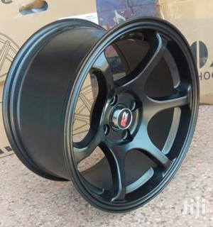 15 Inch Offset Black Four Holes Rims | Vehicle Parts & Accessories for sale in Kiambu, Ndenderu