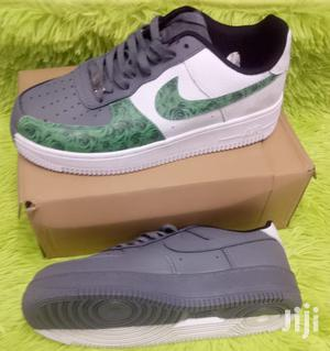 Green/Grey/White Nike Sneakers AF1 Air Force One Custom Shoe   Shoes for sale in Nairobi, Nairobi Central