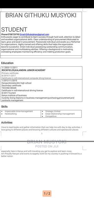 Butchery Worker | Farming & Veterinary CVs for sale in Nairobi, Saika