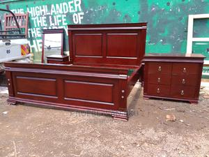 5 by 6 Pure Mahogany Bed | Furniture for sale in Nairobi, Kahawa