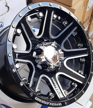 15 Inch 5 Holes Black and Silver Rims Ideal for Matatus | Vehicle Parts & Accessories for sale in Kiambu, Ndenderu