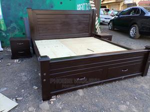 Pure Mahogany Bed 5 by 6 | Furniture for sale in Nairobi, Kahawa