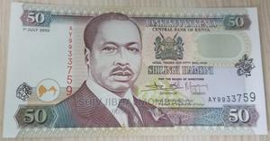 Lucky Serial Number 50 Shillings Note, Kenya, 2002 | Arts & Crafts for sale in Mombasa, Ganjoni