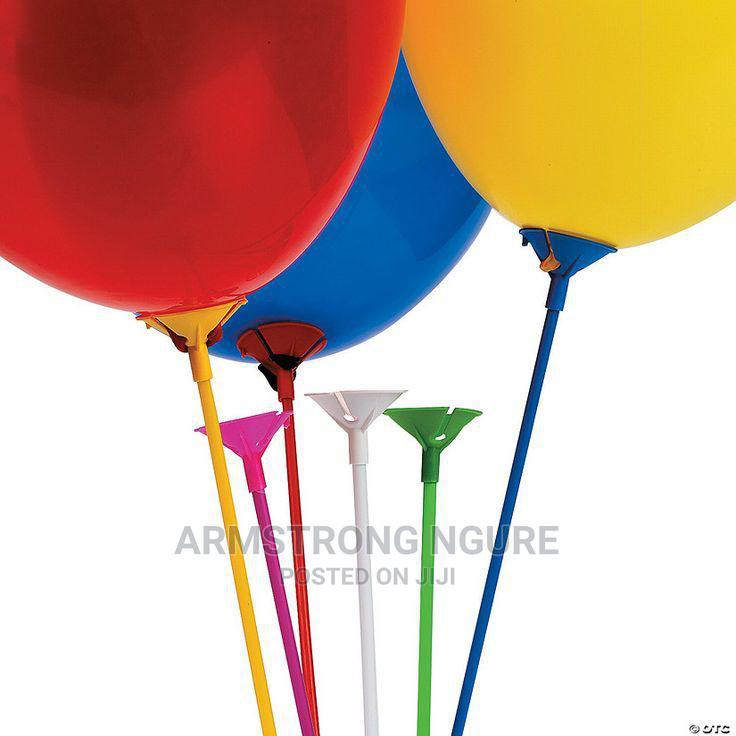 Balloons, Balloon Sticks and Balloon Pumps