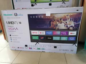 Hisense 75 Inch Smart 4k Uhd Android Frameless Vidaa Tv | TV & DVD Equipment for sale in Nairobi, Nairobi Central