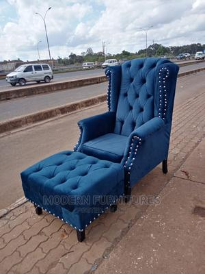 Wing Chair and Footrest   Furniture for sale in Nairobi, Kahawa