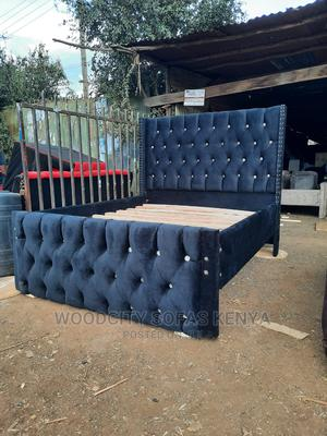 Black 5*6 Chesterfield Bed | Furniture for sale in Nairobi, Kahawa