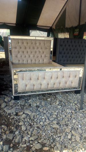 Mirrored 5*6 Chesterfield Bed | Furniture for sale in Nairobi, Kahawa