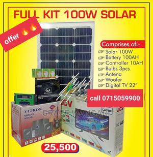 100w Full Kit Solar Panel With Tv | Solar Energy for sale in Nairobi, Nairobi Central
