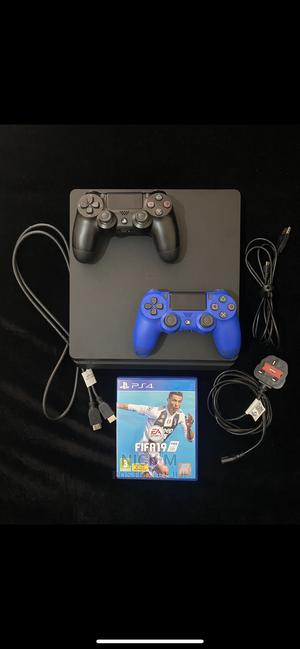 PS4 Slim 500GB Preowned + FIFA19 Bundle + 2 Controllers | Video Game Consoles for sale in Nairobi, Westlands