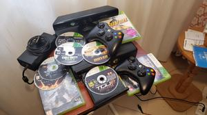 Xbox 360 Slim With Kinect, 2 Wireless Controllers 5 Games | Video Game Consoles for sale in Nairobi, Kasarani