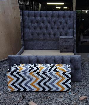 5 by 6 Chester Bed+Ottoman+1 Side Drawer | Furniture for sale in Nairobi, Kahawa