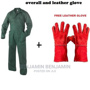 Jungle Green Overall and Leather Glove | Safetywear & Equipment for sale in Nairobi, Nairobi Central