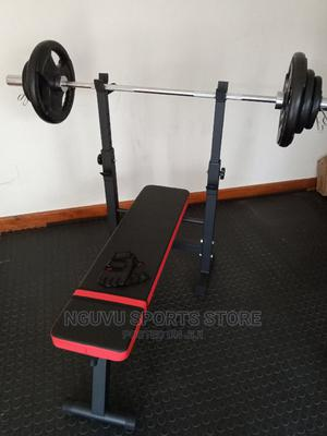 50kg Folding Weight Bench / Dip Station Set | Sports Equipment for sale in Nairobi, Kilimani
