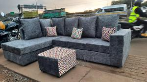 L Sectional 6 Seater Sofas With Footpuff   Furniture for sale in Nairobi, Kahawa