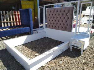 5*6 Modern Bed With Tufted Headboard Mirrored Sidedrawers | Furniture for sale in Nairobi, Kahawa