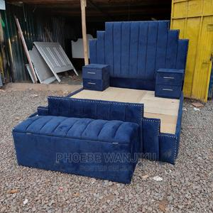 5 by 6 Modern Bed+2 Side Drawers +Ottoman | Furniture for sale in Nairobi, Kahawa