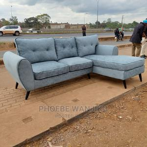 L Shape 5 Seater+ a Free Footrest | Furniture for sale in Nairobi, Kahawa