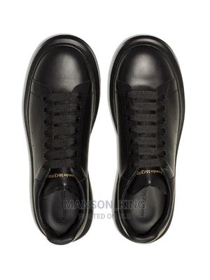 Alexander McQueenoversized Leather All Black Sneakers | Shoes for sale in Nairobi, Nairobi Central