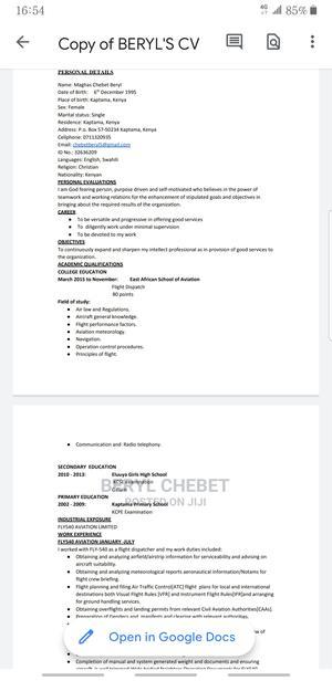 Management CV | Quality Control & Assurance CVs for sale in Nairobi, Donholm