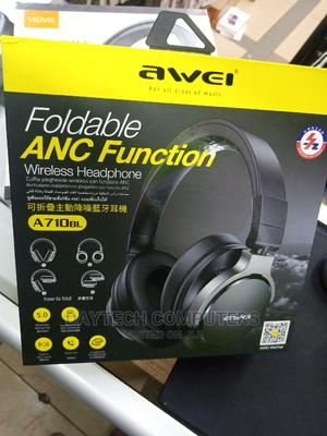 Awei A710bl Active Noise Cancelling Bluetooth Headphone | Headphones for sale in Nairobi, Nairobi Central