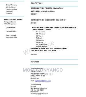 Manual Labour CV | Manual Labour CVs for sale in Nairobi, Nairobi Central