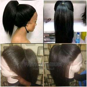 Semi Human Kinky Lace Wig | Hair Beauty for sale in Nairobi, Nairobi Central