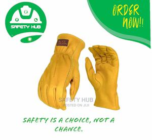 Yellow Quality Safety Leather Gloves | Safetywear & Equipment for sale in Nairobi, Nairobi Central