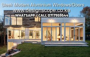 Aluminium Windows for a Clean and Modern House Exterior   Windows for sale in Nairobi, Industrial Area Nairobi