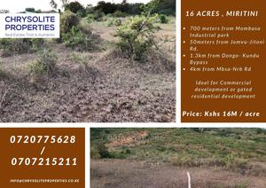 16 Acres for Sale 700meters From Miritini, Mombasa | Land & Plots For Sale for sale in Jomvu, Miritini
