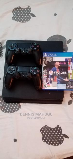 Ps4 Slim 500gb With 2 Controllers and Fifa 21 | Video Game Consoles for sale in Mombasa, Tudor