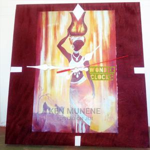 Cinnamon African Theme Wooden Wall Clock | Arts & Crafts for sale in Kilifi, Mtwapa