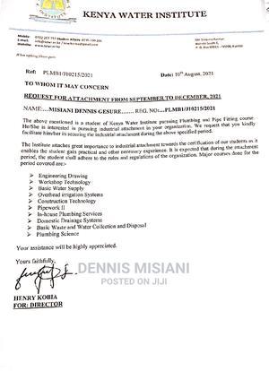 Plumbers Required   Internship CVs for sale in Nairobi, Zimmerman