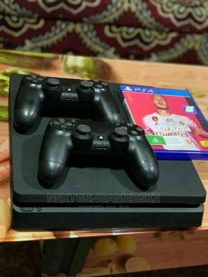 Slim Sony Playstation 4 With 2 Controllers and Game   Video Game Consoles for sale in Nairobi, Nairobi Central